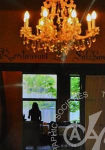 「湖畔のレストラン」