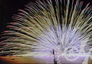 「印旛沼の花火」